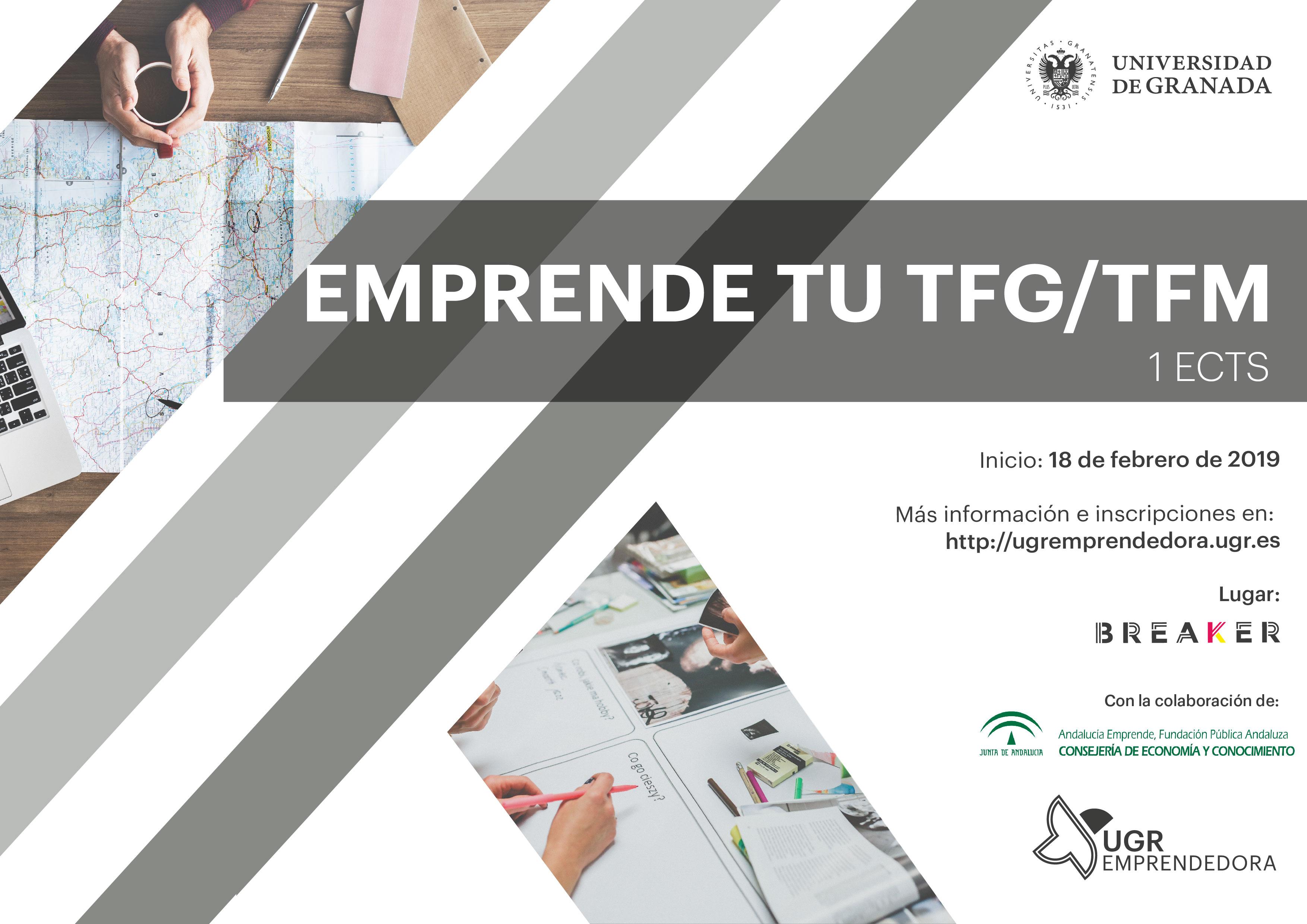 Cartel Emprende tu TFG/TFM